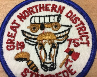 3 vintage scout badges