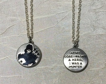 DC Green Arrow necklace with quote