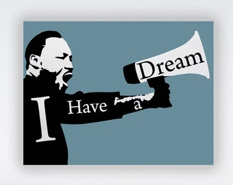 "Martin Luther King, Jr. 24 x 18"" Poster Wall Art Print - MLK Equal Human Rights Quote Print Art, MLK I Have Dream King Speech Artwork Poster"