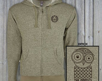 ODDS Owl Hoodie - Military Green Zip Up - The ODDS Apparel