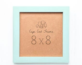 8x8 Picture Frame. Mint 8x8 Frame.  Solid Wood - Perfect Frames For Instagram Prints