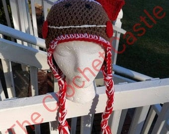 Gingerbread Girl Beanie with earflaps