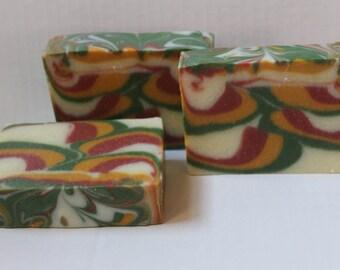 TROPICAL WAVES SOAP / Cold Process Vegan Soap