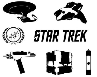 Star Trek dxf svg eps png file for use with your Silhouette Studio Software