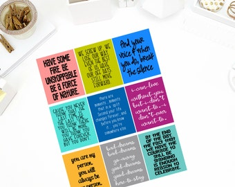 Grey's Anatomy Quotes Stickers! Perfect for your Erin Condren Life Planner, calendar, Paper Plum, Filofax!