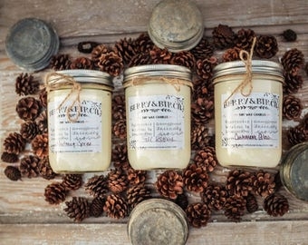 16 Oz CHESTNUT BROWN SUGAR Soy Candle-Non-Toxic-Eco-Friendly-Renewable