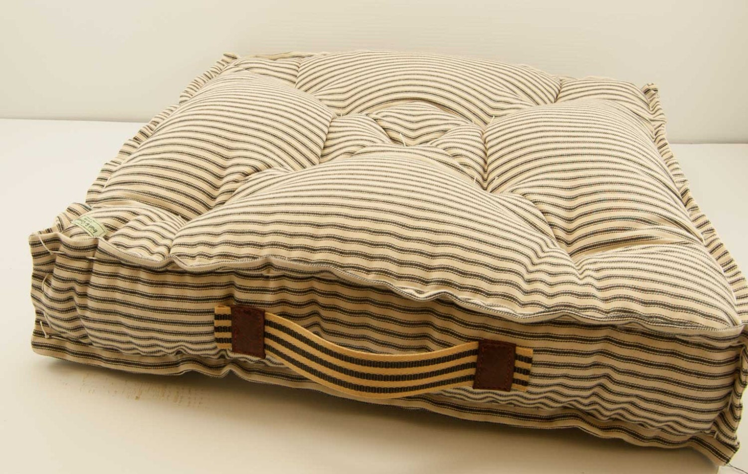 French Mattress Cushion Farmhouse Floor Cushion Ticking