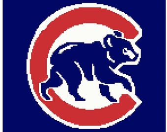 Chicago Cubs Bear Afghan Digital Crochet Pattern