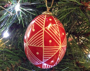 geometric pysanky egg ornament - made to order