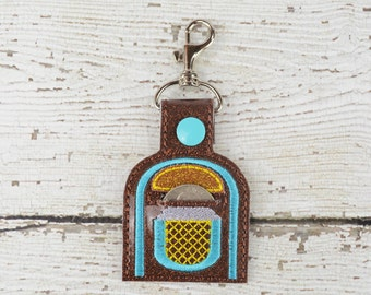 Jukebox Quarter Keeper Keychain - Bag Tag - Small Gift - Gift for Her - Thank You Gift - Bag Accessory - Zipper Pull