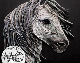 "Quilled Paper Art | ""Stallion"" Original Artwork"