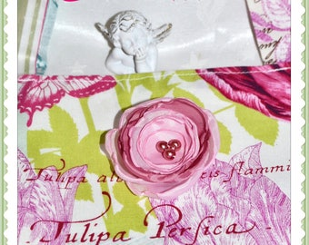 Great bag Tote made of designer fabric - old pink Theme, birds