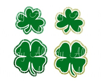 Clovers - Shamrocks - Instant Digital Download - Decal - SVG Cut file - Sticker - HTV - St Patrick