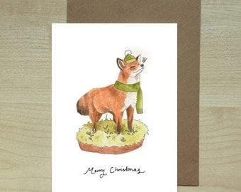 Fox and Snowflake Christmas Card