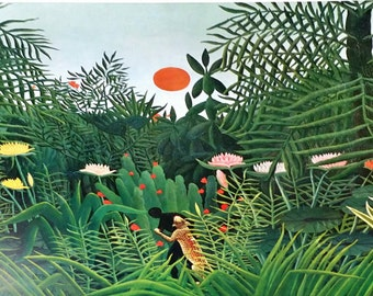 Henri Rousseau Virgin Forest at Sunset 1908 Oringal Lithograph