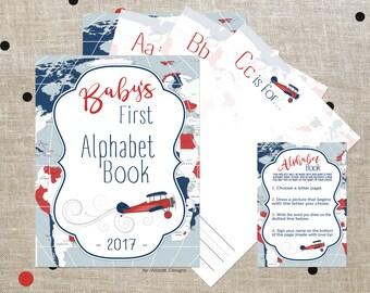 Alphabet book baby shower game, Baby shower alphabet book, Printable alphabet book, Baby's first alphabet book, Baby shower games, Printable