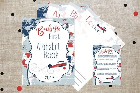 Alphabet Book Baby Shower Game Baby Shower Alphabet Book Printable