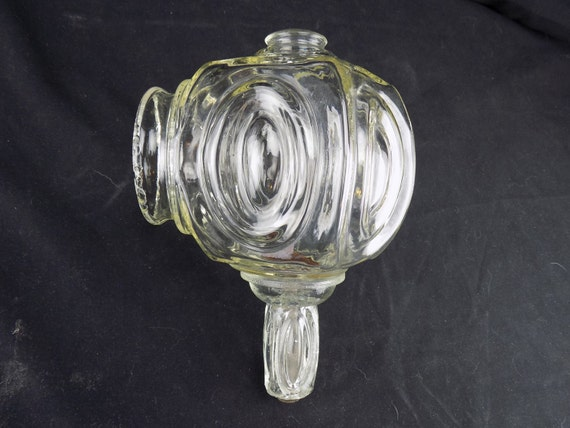Vintage Clear Glass Globe Carriage Lamp Shaped Sconce Light Shade