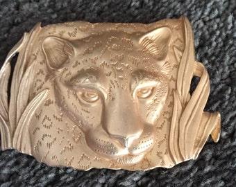 Vintage JJ 1986 Panther Gold Tone Brooch Carolina Panther Pin Nittney Lion Brooch Pitt Panthers Pin