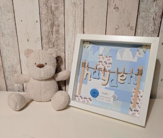 Basket Weaving Nuneaton : Personalised baby boy new handmade gift keepsake from