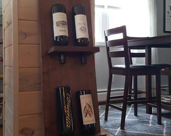 Reclaimed Wood Wall Decor Wine Rack