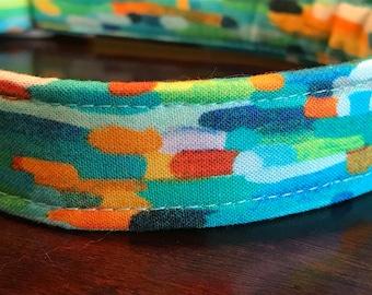 Monet Inspired Dog Collar ~ Handmade Dog Collar - Boy Dog Collar