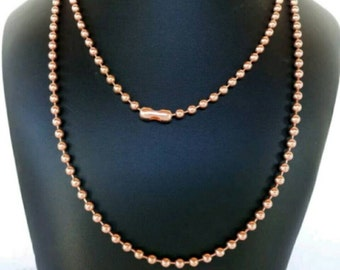 Solid, Copper Ball Chain, Necklace, Large, 4.5mm
