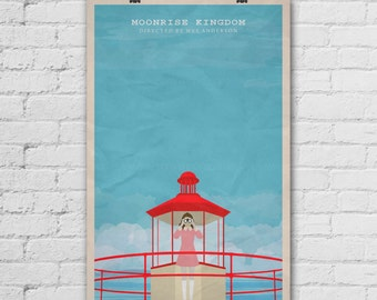 Moonrise Kingdom Poster. Wes Anderson Poster. Movie Art Print. Wall Decor Poster. Pop Culture and Modern Home Decor Poster. Item No. 274