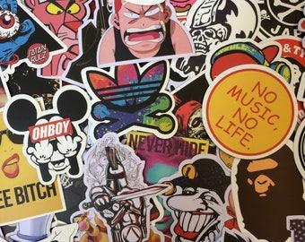150 Sticker Bomp Laptop Skateboard BMX Car Stickers. Random Selection.