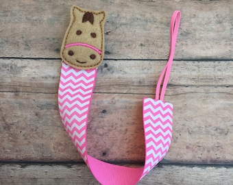 Horse Pacifier Clip - Pacifier holder - pacifier clip - horse baby gift - horse binky clip - binky holder - baby shower gift - paci clip