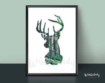 Deer photography poster  | Printable | Instant Download