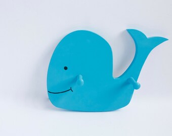 Happy Blue Whale Clothes Hook