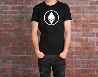 Ethereum T Shirt FREE SHIPPING Ethereum Logo Blockchain Bitcoin Blockchain HODL