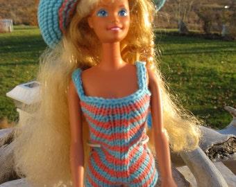 Barbie Clothes, Barbie Fashion, Hand Knit Barbie Fashion