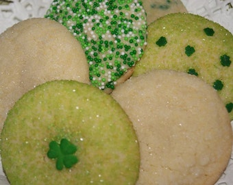 St. Patrick's Day Cookie Gift - 1/2 Dozen Gift Pack, Cookie Sampler, St. Patrick's Day Cookies, Easter Cookies, Homemade, Made to Order