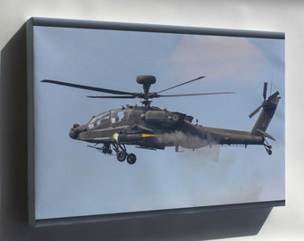 Canvas 24x36; Army Ah-64D Apache Longbow Helicopter P10