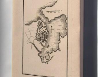 Canvas 24x36; Map Of Havana Cuba 1755