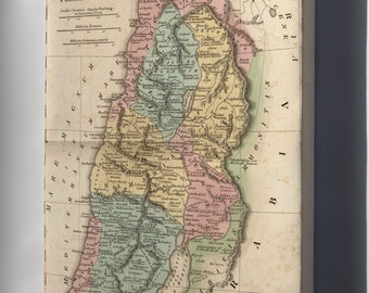 Canvas 24x36; Map Of Israel Palestine Holy Land In Antiquity 1826