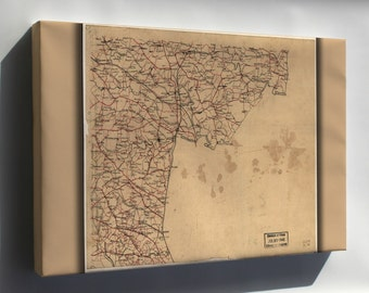 Canvas 16x24; Map Caroline Hanover Henrico Co'S Virginia 1865