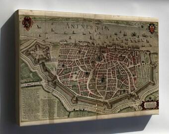 Canvas 16x24; Map Of Antwerp 1612