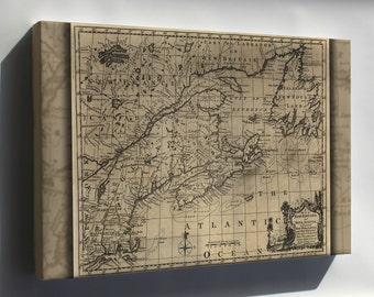 Canvas 16x24; Map Of New England, And Nova Scotia 1758
