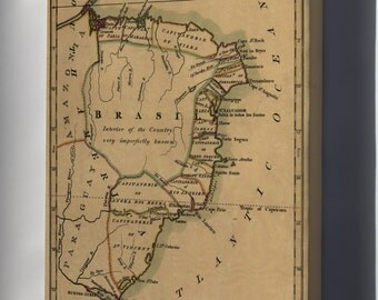 Canvas 16x24; Map Of Brazil, Or Trans-Atlantic Portugal 1808