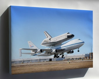 Canvas 16x24; Boeing 747 With The Space Shuttle Endeavour