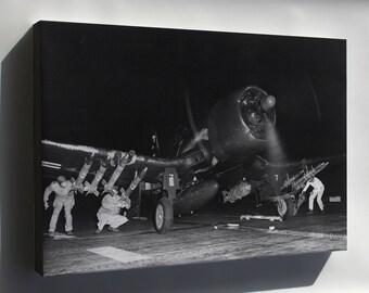 Canvas 16x24; Vought F4U-4B Corsair Marine F Sq (Vmf-214) Blacksheep 1950