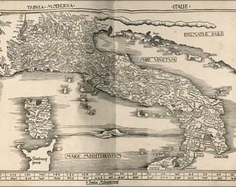 16x24 Poster; Map Of Italy 1513 P2