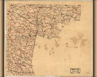16x24 Poster; Map Caroline Hanover Henrico Co'S Virginia 1865