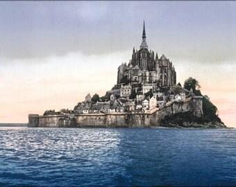 16x24 Poster; Mont St. Michel, France Photochrom 1890