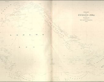 16x24 Poster; Chart Map Of The Sooloo Sea 1841