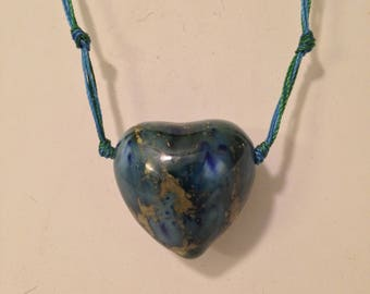 Handmade Ceramic Bead Necklace and Earrings