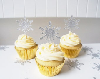 Snowflake Frozen Cupcake Toppers